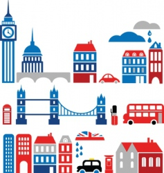 silhouettes of european cities lond0n vector image vector image