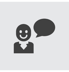 Speaking man icon vector image vector image