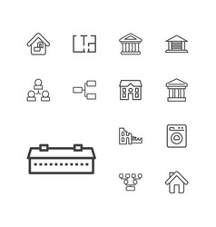 13 structure icons vector
