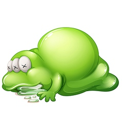 A dead greenslime monster vector image