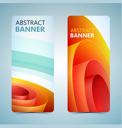 Abstract vertical banners vector