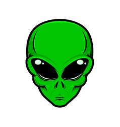 Alien head isolated white background design vector