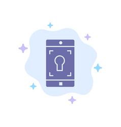 application mobile mobile application screen blue vector image