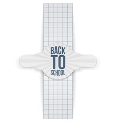 Back to School realistic greeting Banner vector