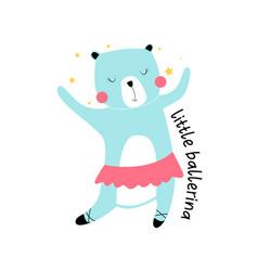ballet bear print design vector image