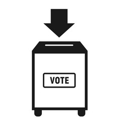 Ballot box icon simple style vector