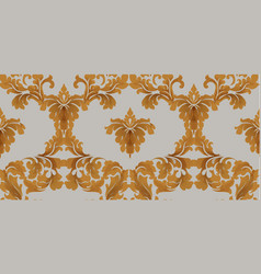 baroque seamless pattern royal texture vector image