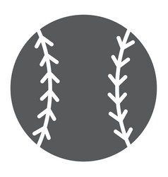 Baseball ball glyph icon game and sport ball vector
