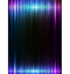 Blue vertical shining lights lines abstract vector image