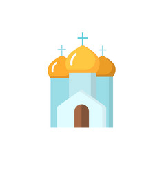 cathedral church flat icon vector image