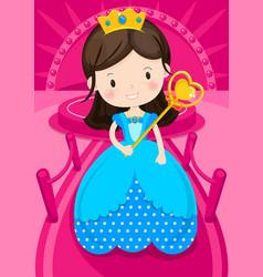 character princess vector image