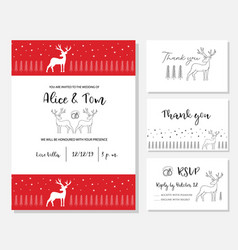 christmas wedding invitation card vector image