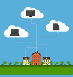 cloud computingconcept design vector image vector image