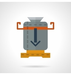 Coffee mill flat color icon vector image