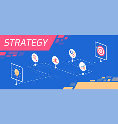 colourful of strategy as a tool vector image