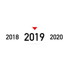 coming 2019 new year with shadow on a white vector image