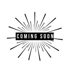 Coming soon template design vector