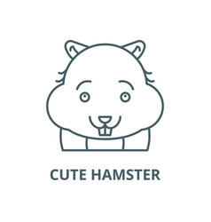 cute hamster line icon cute hamster vector image