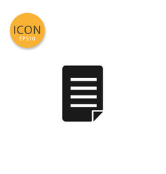 document icon isolated flat style vector image