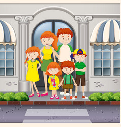 family members standing on pavement vector image