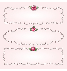 Frames flowers horizontal vector