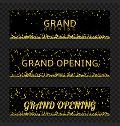 grand opening banners vector image