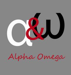 Greek letter alpha and omega vector