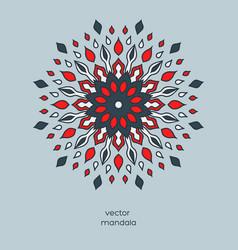 Hand drawn colorful floral mandala vector