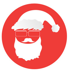 hipster-santa-in-a-circle vector image