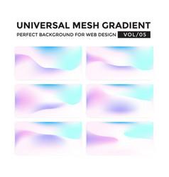iridescent colored universal mesh gradient vector image