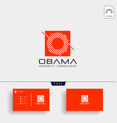 Letter o business consult logo template with vector