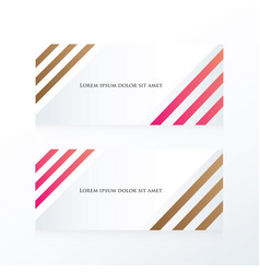 Line abstract banner pink brown vector