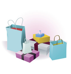 lots of shopping or gifts vector image
