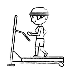 man on a treadmill vector image