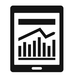 management graph tablet icon simple style vector image