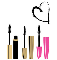 mascara brushes vector image