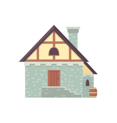 Medieval historical building old city house vector