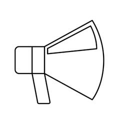 Megaphone flat line icon vector