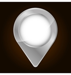 Metallic finish gps pin icon image vector