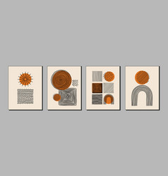 modern art posters covers with various hand drawn vector image