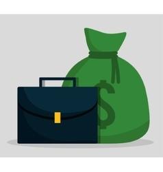 Money bag of financial item concept vector