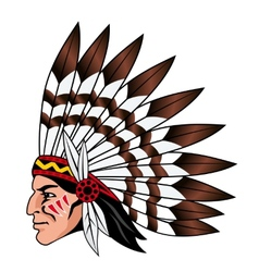 Native american people vector image