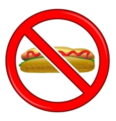 No Hot Dog Sign Isolated vector