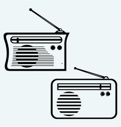 Old radio receiver vector image