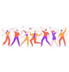 people celebrating happy celebration party vector image