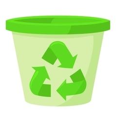 Plastic jar icon cartoon style vector