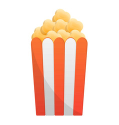 popcorn box icon cartoon style vector image