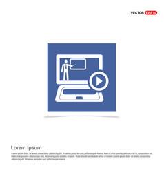 presentation icon - blue photo frame vector image