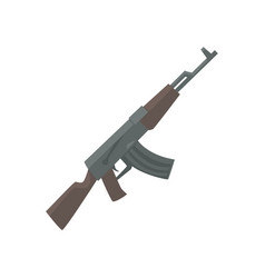Russian assault rifle cartoon vector