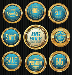 sale luxury golden labels collection 3 vector image
